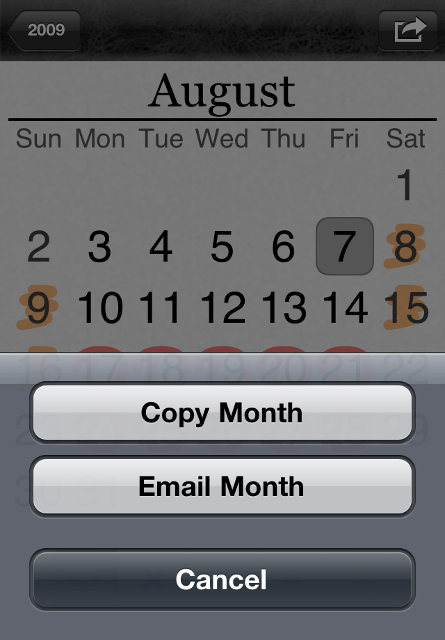 Email Month Screenshot